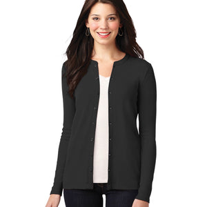 Port Authority Ladies Concept Stretch Button Cardigan (Embroidered Logo)