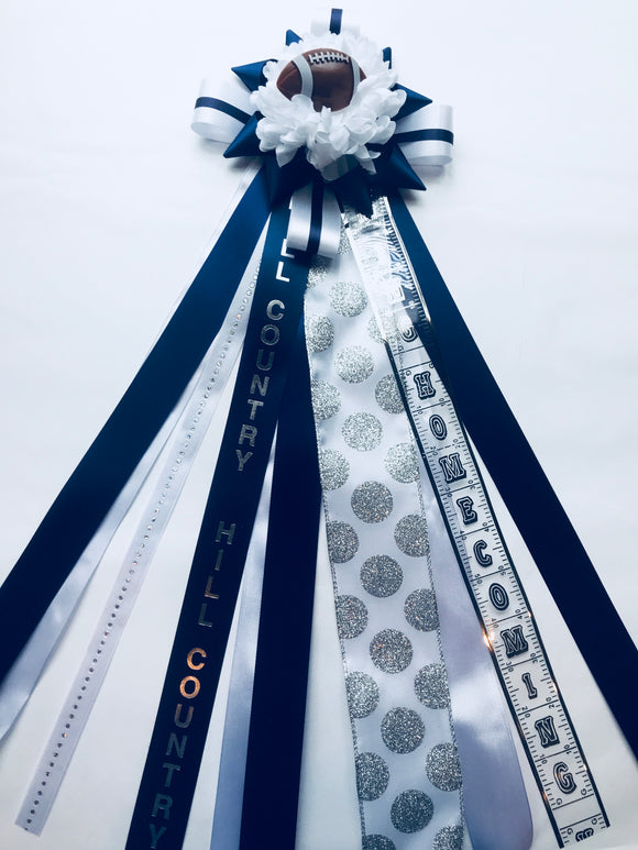 Hill Country Homecoming Mum - Lower School 1/2 Size - Ah Ha!