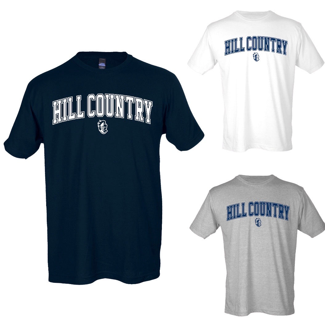 Hill Country Knights Block Font T-shirt