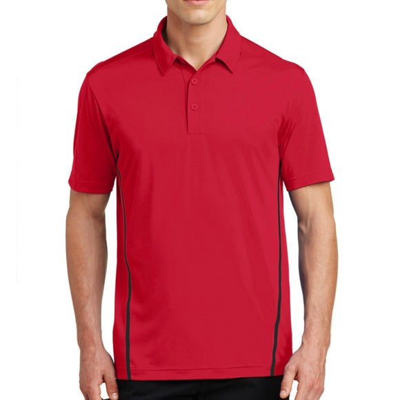 Sport-Tek Contrast PosiCharge Tough Polo, Embroidered