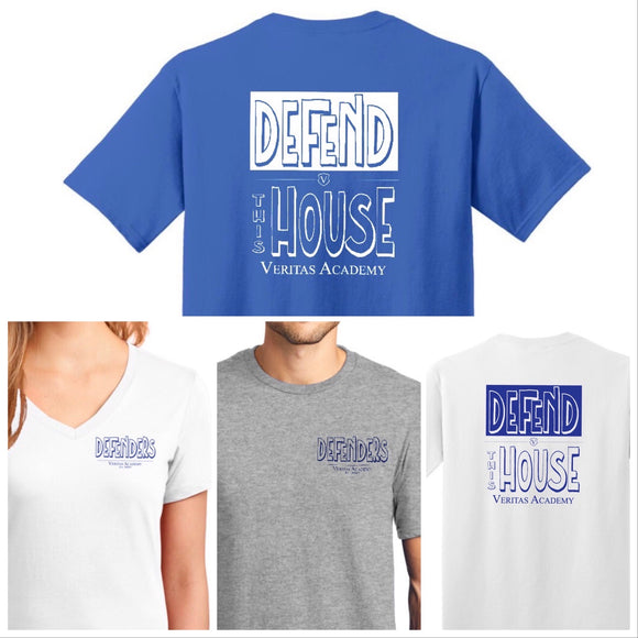 Veritas Defend the House 2-sided Basic T-shirt (Youth to Adult)
