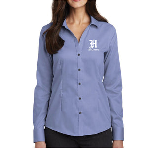 Knights Corporate Branded Red House Ladies Pinpoint Oxford Non-Iron Shirt
