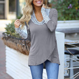 Ladies Long Sleeve Stripe Deep Neck Shirt (additional colors) (S-XL) - Ah Ha!