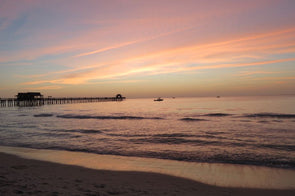Sunset at The Naples Pier, Florida Photographic Print