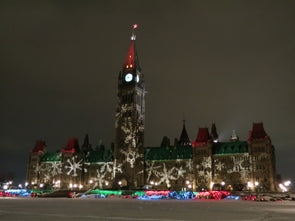 Holiday Lights on Parliament Hill