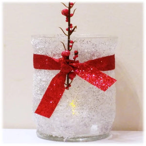 Frosted Glitter Candle Holder