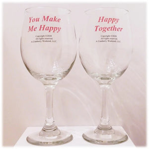 Happy Wine Glass Set