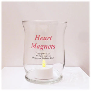 Heart Magnets Candle Holder