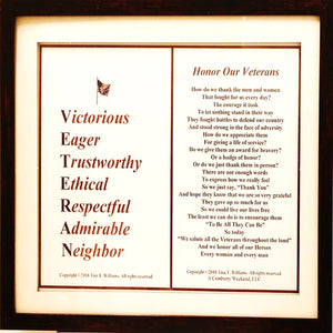 Honor Our Veteran's Frame