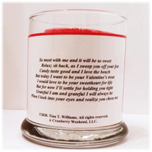 Load image into Gallery viewer, Sweetheart's Gratitude Poem Candle Holder