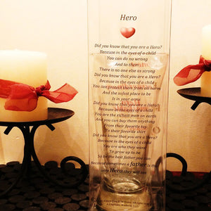 Tall Hero Glass in Poetry Case
