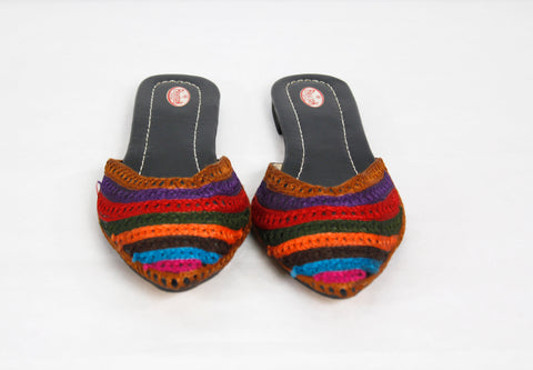 Hand Embroidered Ethnic Flats