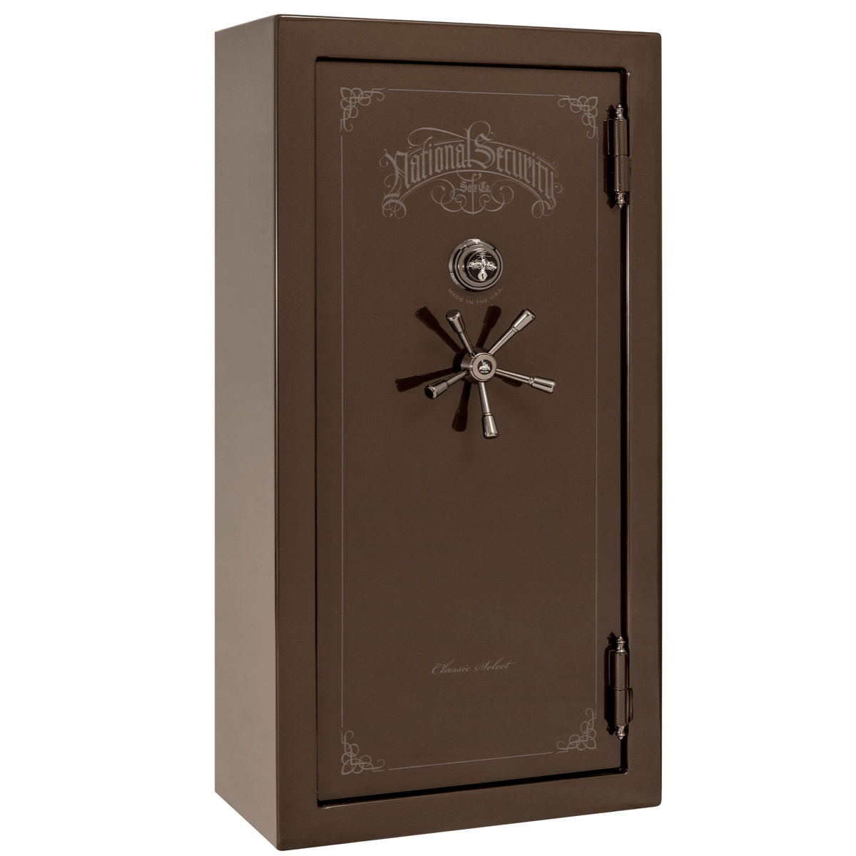 "Classic Select | 25 | Level 6 Security | 90 Minute Fire Protection | Bronze Gloss | Black Mechanical Lock | 60.5""(H) x 30""(W) x 28.5""(D)"