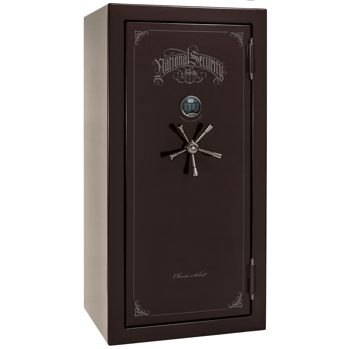 "Classic Select | 25 | Level 6 Security | 90 Minute Fire Protection | Black Cherry Gloss | Black Electronic Lock | 60.5""(H) x 30""(W) x 28.5""(D)"
