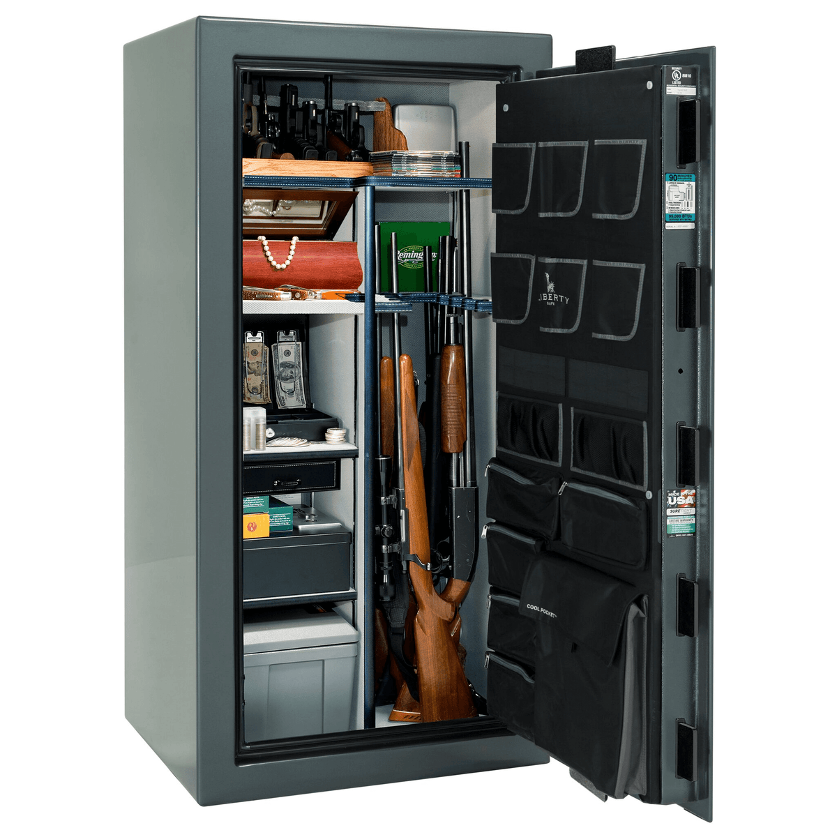 "Classic Select | 25 | Level 6 Security | 90 Minute Fire Protection | Forest Mist Gloss | Black Electronic Lock | 60.5""(H) x 30""(W) x 28.5""(D)"