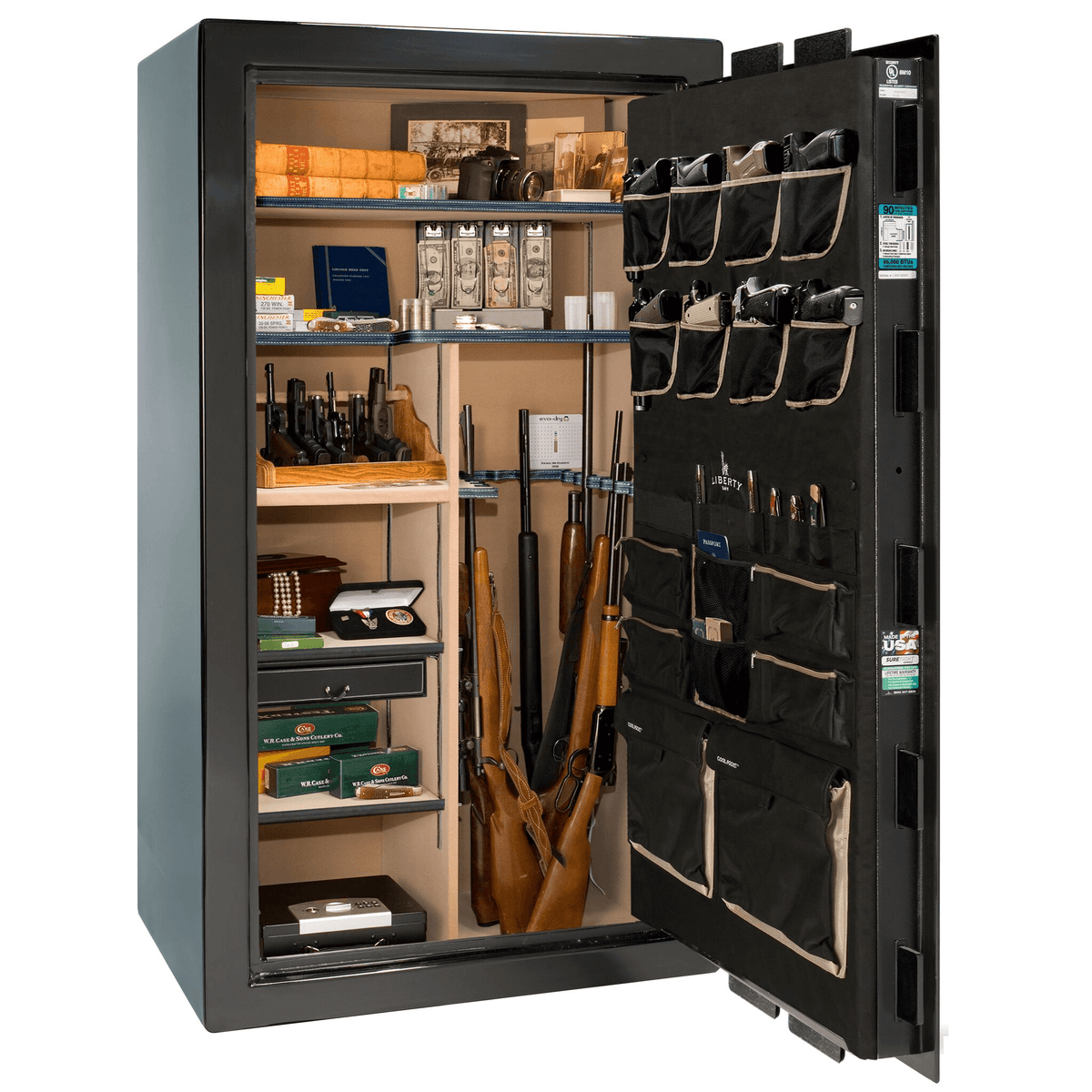"Classic Select | 40 | Level 6 Security | 90 Minute Fire Protection | Black Gloss | Black Electronic Lock | 66.5""(H) x 36""(W) x 32""(D)"