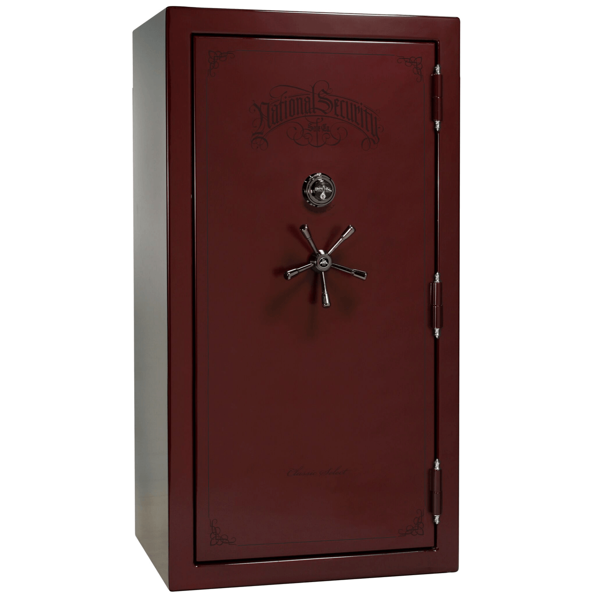 "Classic Select | 40 | Level 6 Security | 90 Minute Fire Protection | Burgundy Gloss | Black Mechanical Lock | 66.5""(H) x 36""(W) x 32""(D)"