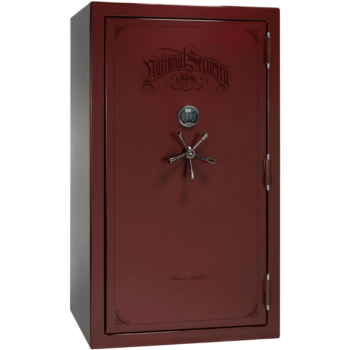 "Classic Select | 50 | Level 6 Security | 90 Minute Fire Protection | Burgundy Gloss | Black Electronic Lock | 72.5""(H) x 42""(W) x 32""(D)"