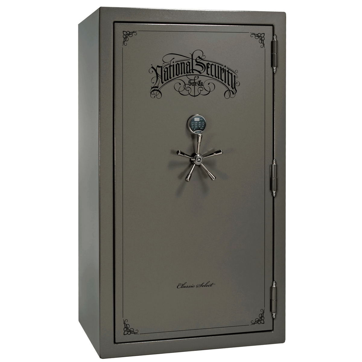 "Classic Select | 50 | Level 6 Security | 90 Minute Fire Protection | Gray Gloss | Black Electronic Lock | 72.5""(H) x 42""(W) x 32""(D)"