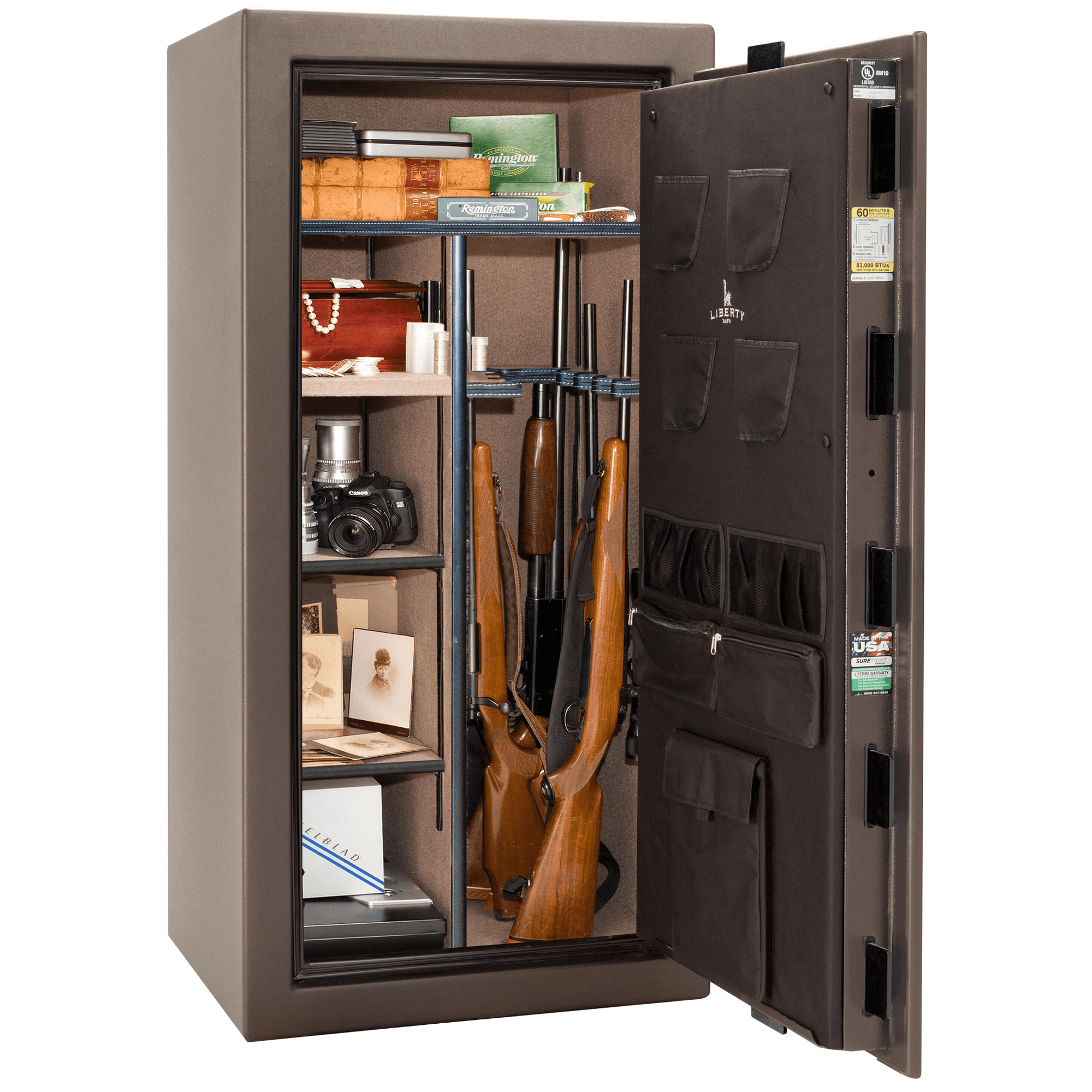 "Colonial | 23 | Level 3 Security | 60 Minute Fire Protection | Bronze | Black Electronic Lock | 60.5""(H) x 30""(W) x 25""(D)"
