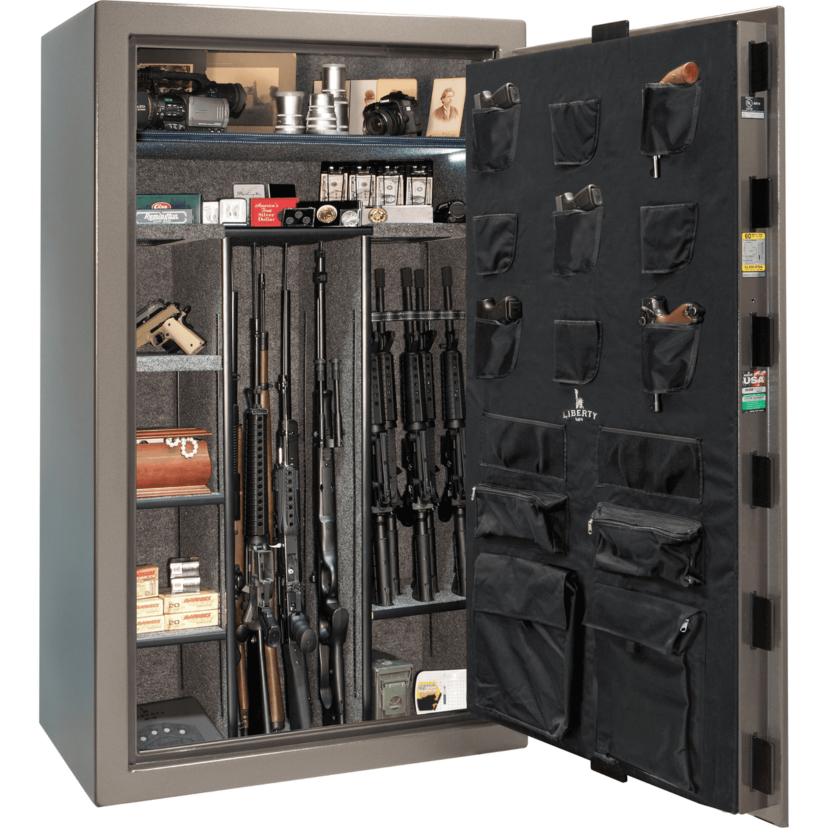 "Colonial Extreme | 50 | Level 3 Security | 60 Minute Fire Protection | Gray | Black Mechanical Lock | 72.5""(H) x 42""(W) x 30.5""(D)"