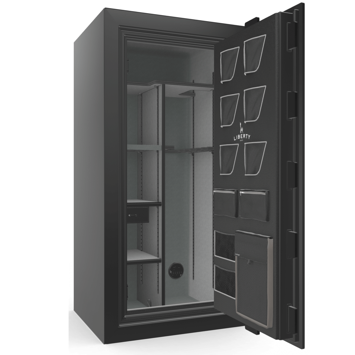 "Classic Plus | 25 | Level 7 Security | 110 Minute Fire Protection | Black Gloss | Black Electronic Lock | 60.5""(H) x 30""(W) x 29""(D)"