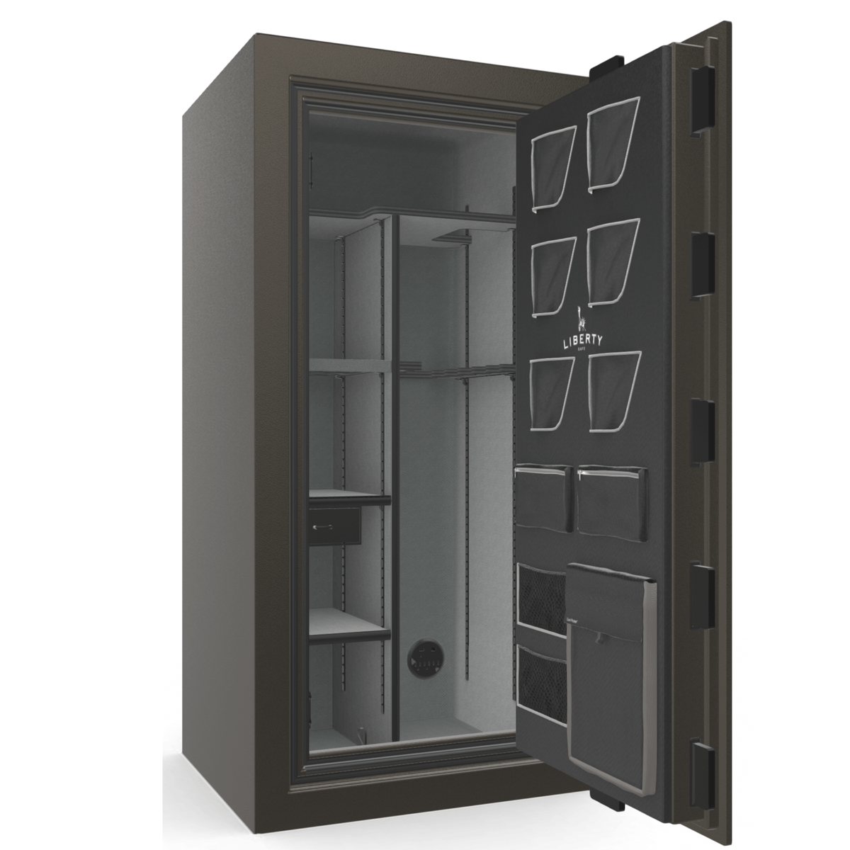 "Classic Plus | 25 | Level 7 Security | 110 Minute Fire Protection | Gray | Black Mechanical Lock | 60.5""(H) x 30""(W) x 29""(D)"