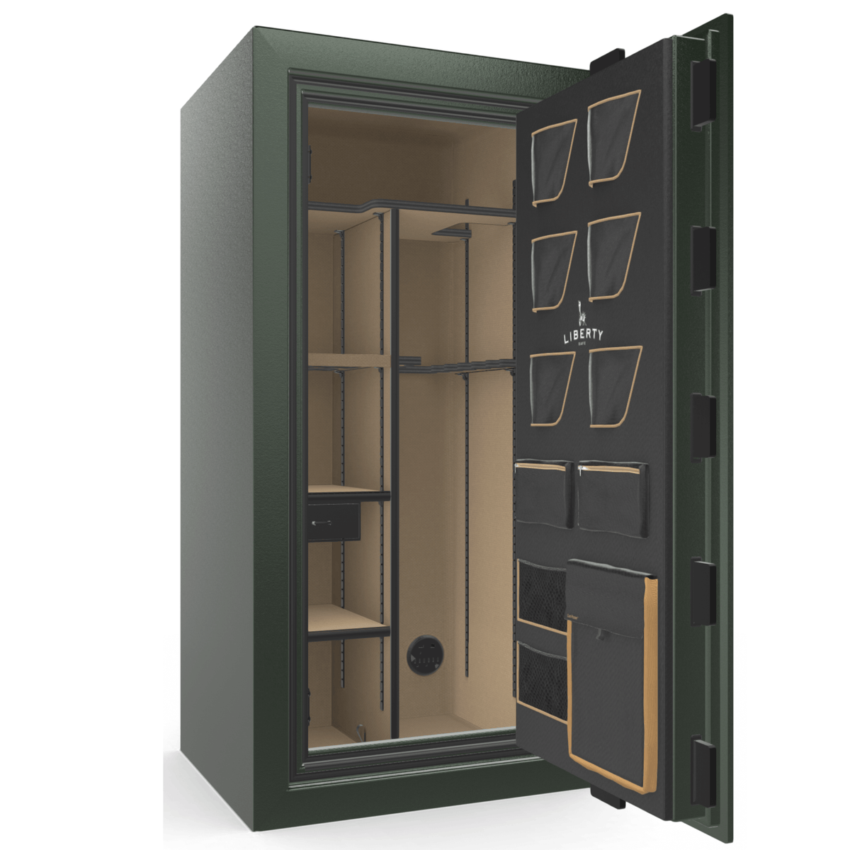 "Classic Plus | 25 | Level 7 Security | 110 Minute Fire Protection | Green | Black Mechanical Lock | 60.5""(H) x 30""(W) x 29""(D)"