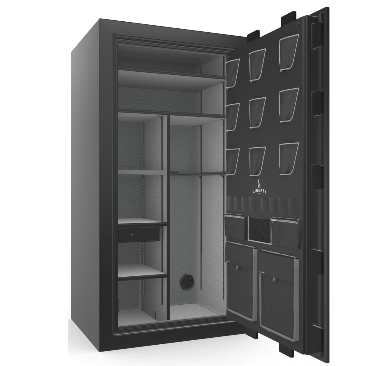 "Classic Plus | 40 | Level 7 Security | 110 Minute Fire Protection | Black Gloss | Black Mechanical Lock | 65.5""(H) x 36""(W) x 32""(D)"