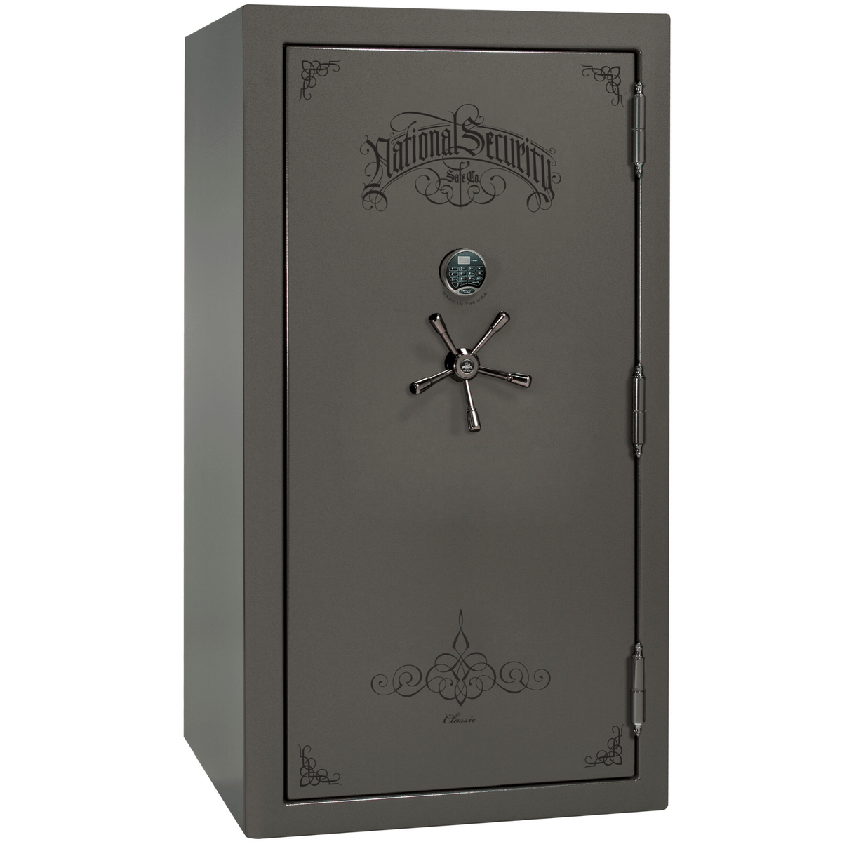 "Classic Plus | 40 | Level 7 Security | 110 Minute Fire Protection | Gray | Black Electronic Lock | 65.5""(H) x 36""(W) x 32""(D)"