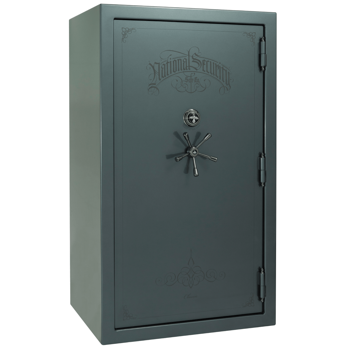 "Classic Plus | 50 | Level 7 Security | 110 Minute Fire Protection | Forest Mist Gloss | Black Mechanical Lock | 72.5""(H) x 42""(W) x 32""(D)"