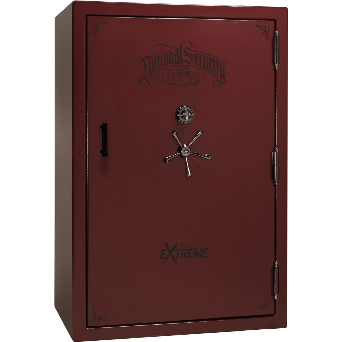 "Classic Select Extreme | 60 | Level 6 Security | 90 Minute Fire Protection | Burgundy Gloss | Black Mechanical Lock | 72.5""(H) x 50""(W) x 32""(D)"