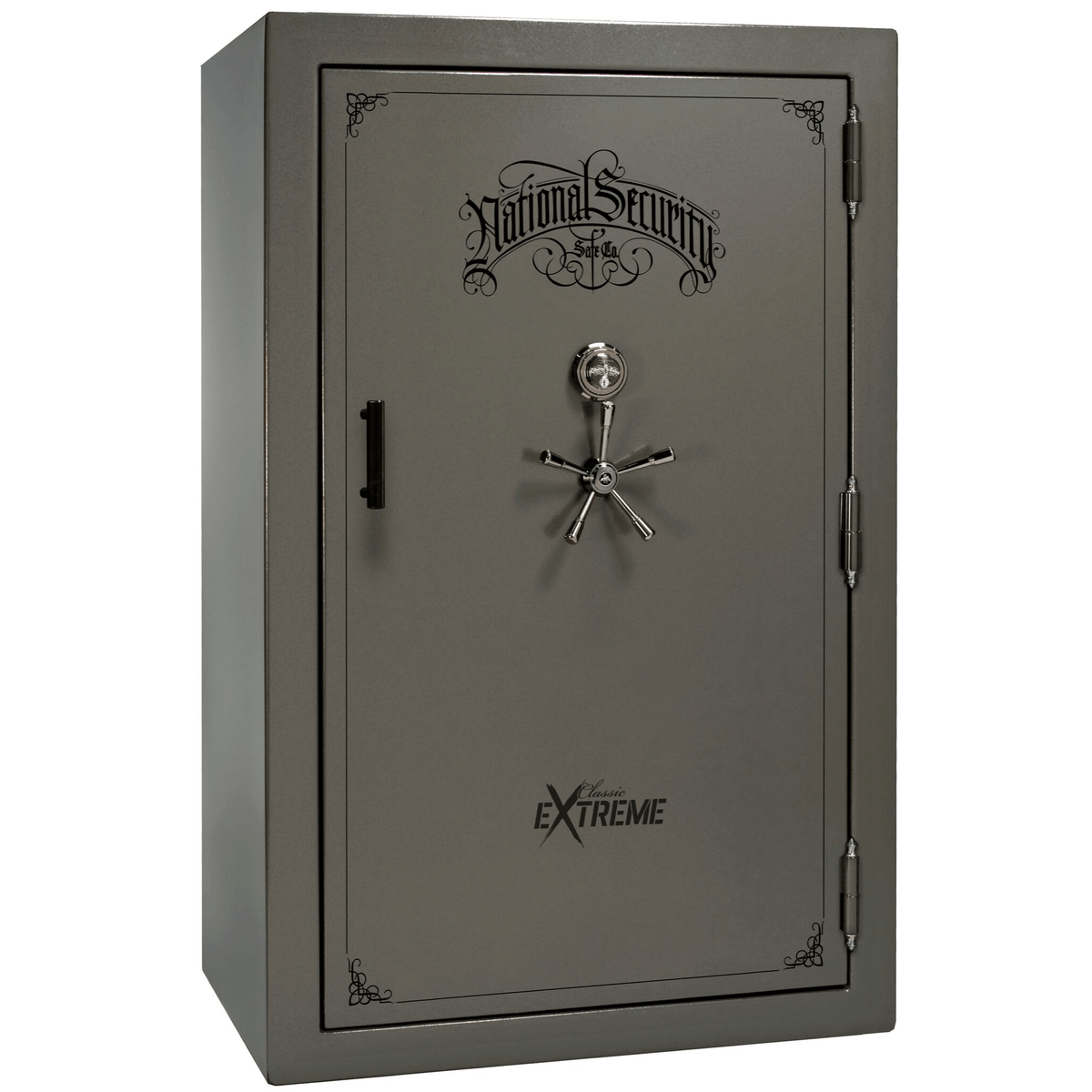 "Classic Select Extreme | 60 | Level 6 Security | 90 Minute Fire Protection | Gray Gloss | Black Mechanical Lock | 72.5""(H) x 50""(W) x 32""(D)"
