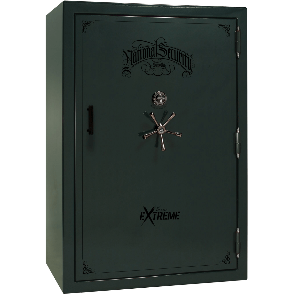 "Classic Select Extreme | 60 | Level 6 Security | 90 Minute Fire Protection | Green Gloss | Black Mechanical Lock | 72.5""(H) x 50""(W) x 32""(D)"