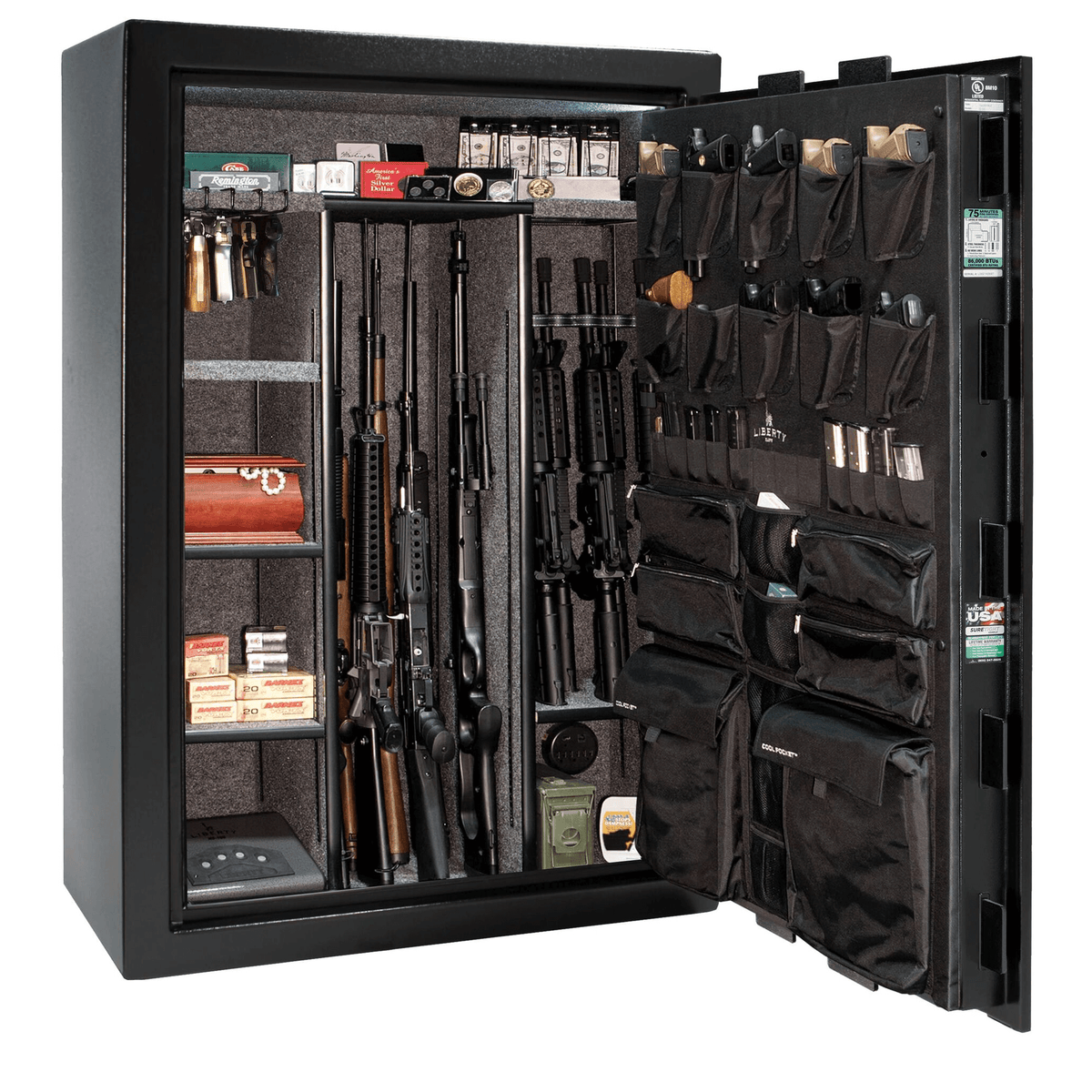 "Fatboy Extreme -Level 4 Security - 75 Minute Fire Protection - Black - Electronic Lock - Dimensions: 60.5""(H) x 42""(W) x 32""(D)"