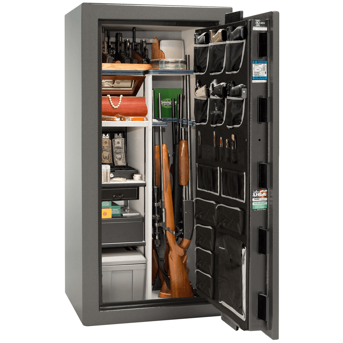 "Magnum | 25 | Level 8 Security | 150 Minute Fire Protection | Gray | Black Electronic Lock | 60.5""(H) x 30""(W) x 29""(D)"