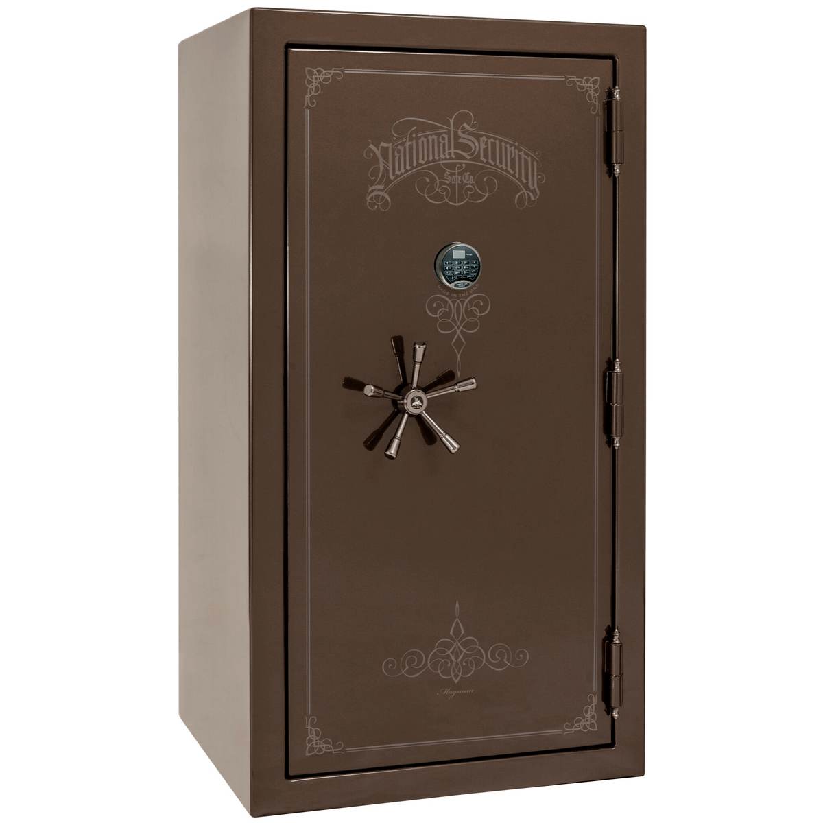 "Magnum | 40 | Level 8 Security | 150 Minute Fire Protection | Bronze Gloss | Black Electronic Lock | 65.5""(H) x 36""(W) x 32""(D)"