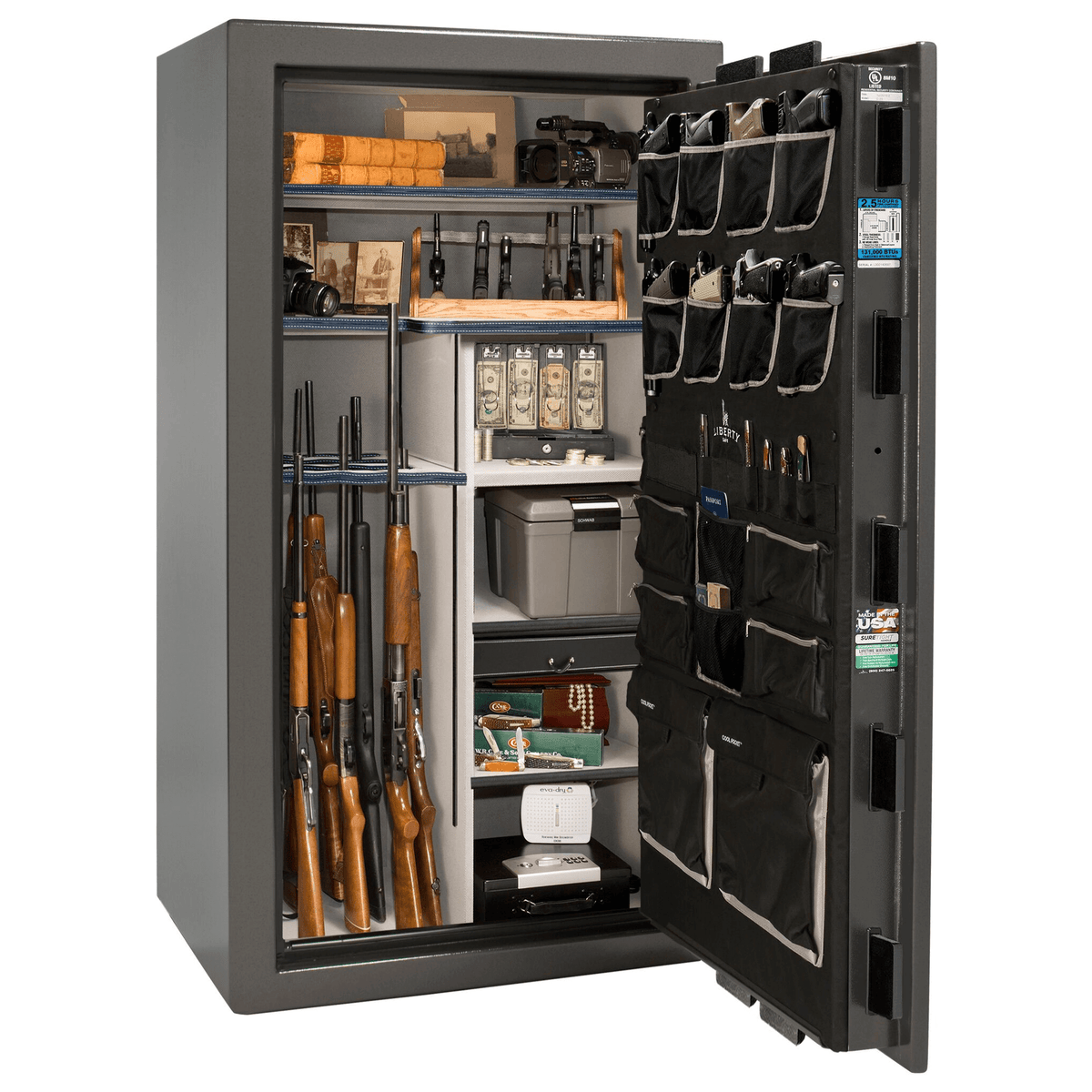 "Magnum | 40 | Level 8 Security | 150 Minute Fire Protection | Gray | Black Mechanical Lock | 65.5""(H) x 36""(W) x 32""(D)"