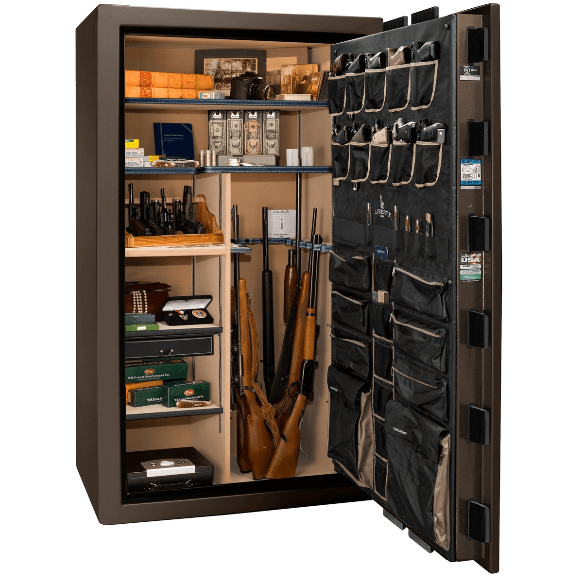 "Magnum | 50 | Level 8 Security | 150 Minute Fire Protection | Bronze Gloss | Black Electronic Lock | 72.5""(H) x 42""(W) x 32""(D)"
