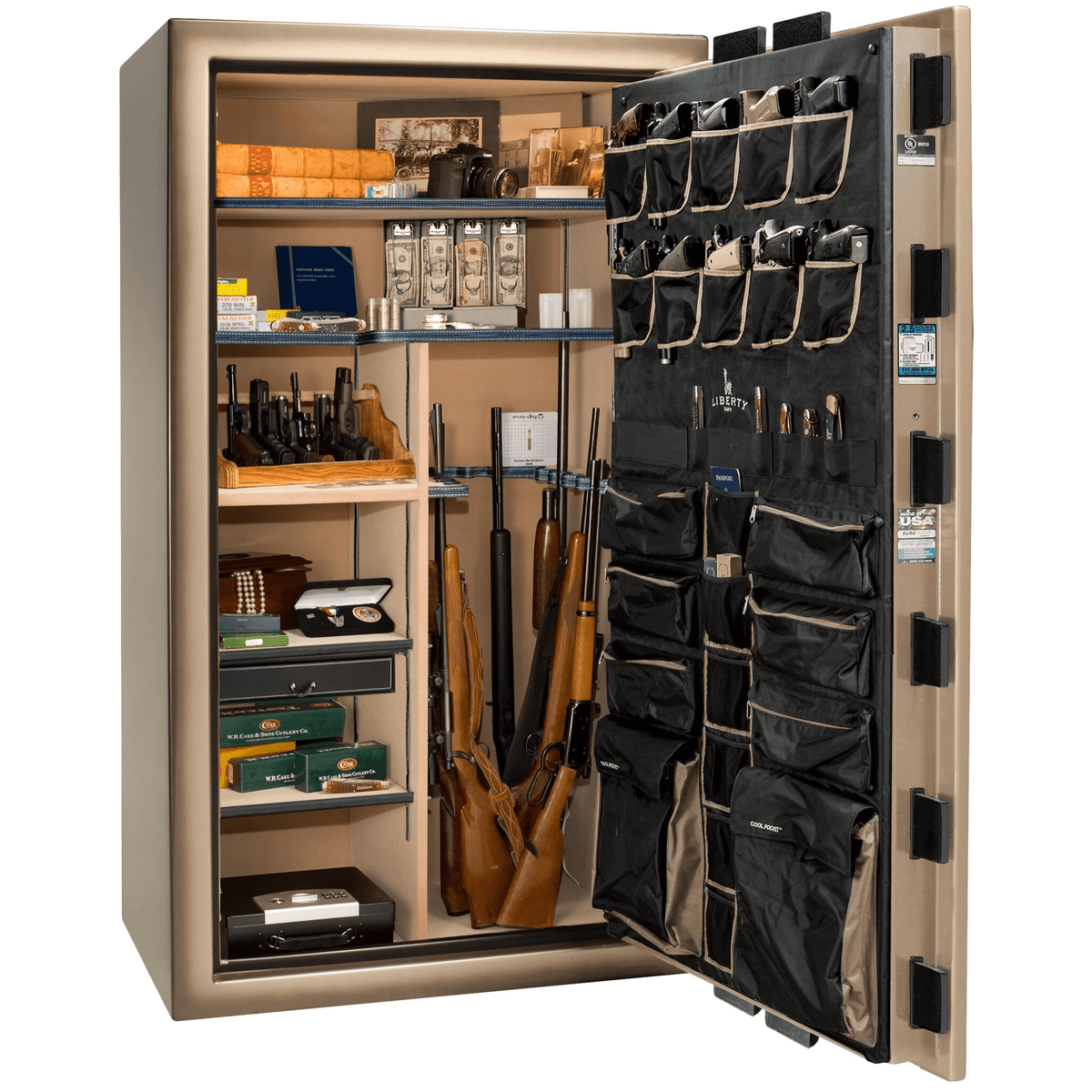 "Magnum | 50 | Level 8 Security | 150 Minute Fire Protection | Champagne 2-Tone | Black Electronic Lock | 72.5""(H) x 42""(W) x 32""(D)"