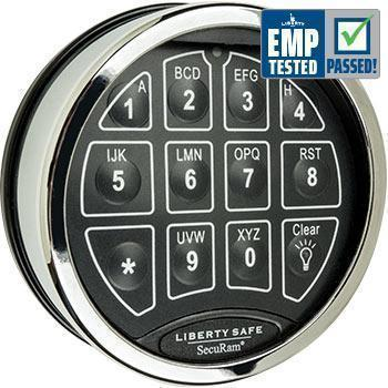 Liberty Safe-accessory-electronic-lock-toplit-chrome