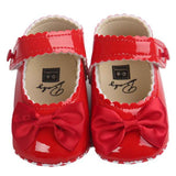 Baby Girl Bowknot Leater Shoes Sneaker Anti-slip Soft Sole