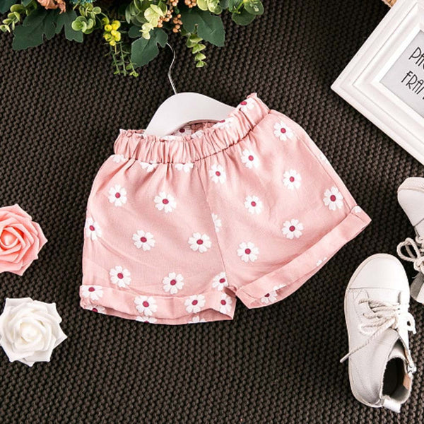 Toddler Kids Baby Girls Outfits Clothes T-shirt Vest Tops+Shorts Pants 2PCS Set