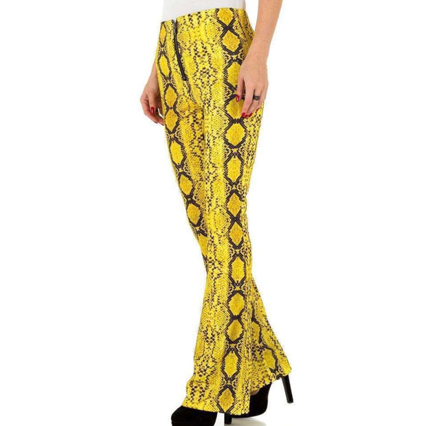 """LIKE SNAKE"" Pants Yellow"
