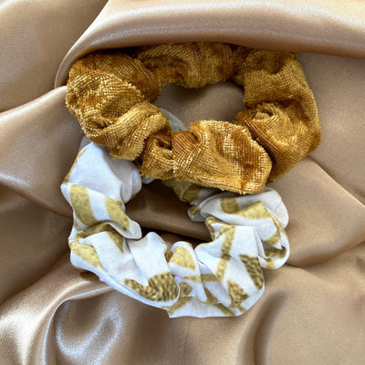 """WHITE GOLDEN"" Scrunchies"