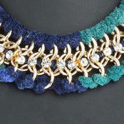 """KIRA"" Statement Necklace Blue"
