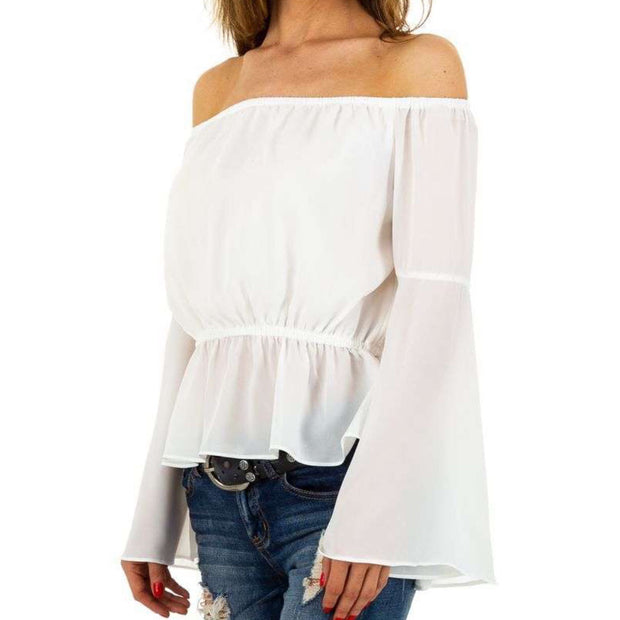 """TESSA"" Off-Shoulder Blouse white"