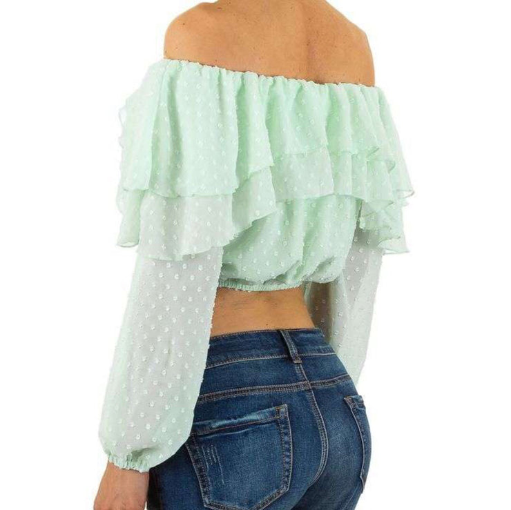 Aqua Off-Shoulder Top