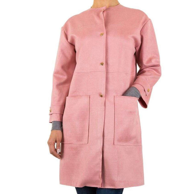 """JANET"" Long Jacket Rose"