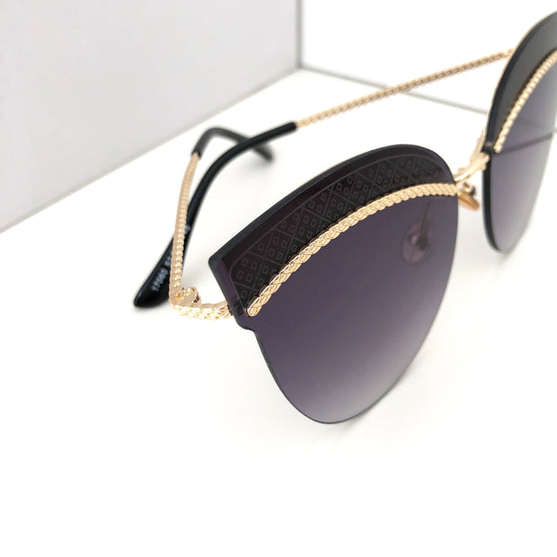 """SAN DIEGO"" Black Sunglasses"